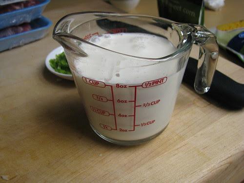 cream and broth
