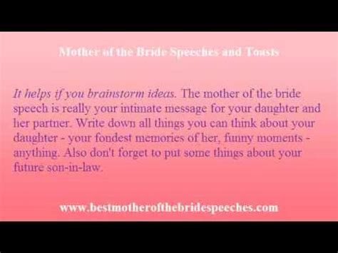 mother  bride speech expression   mothers love