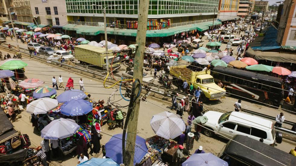 El barrio keniano de Eastleigh, en Nairobi, alberga cada vez más refugiados de Eritrea, Etiopía y Yemen.