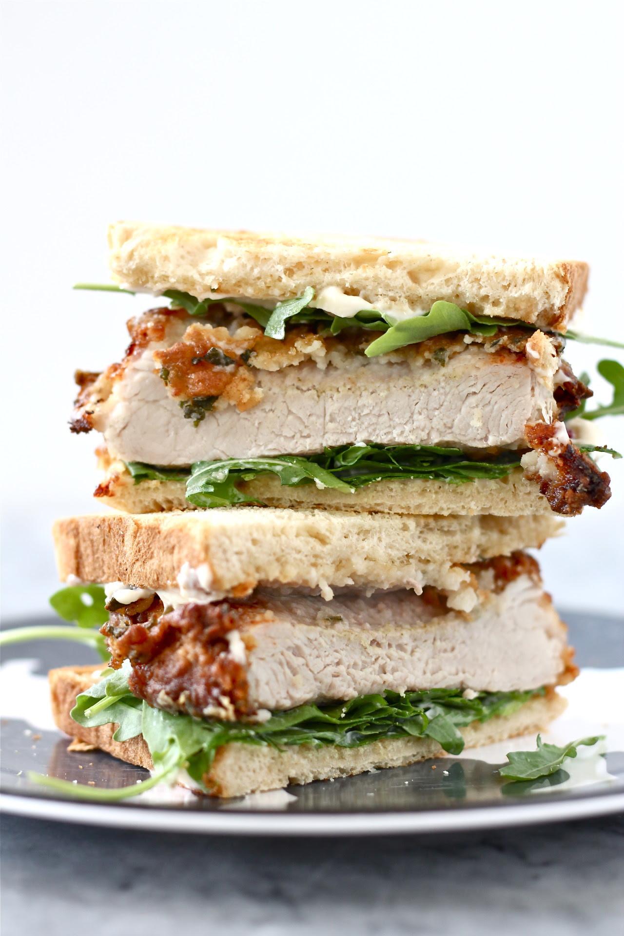 Buttermilk Fried Pork Chop Sandwiches