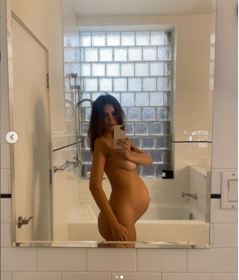 'I feel like a fertility goddess with a juicy butt' - Pregnant Emily Ratajkowski says as she poses nude to showcase her baby bump (photos)
