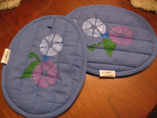 Morning Glory Potholders