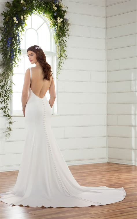 Wedding Dresses   Backless Crepe Wedding Gown   Essense of