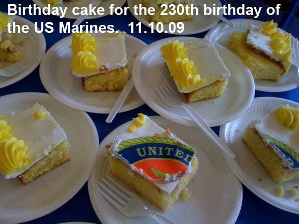 Marine Corps Birthday Cake