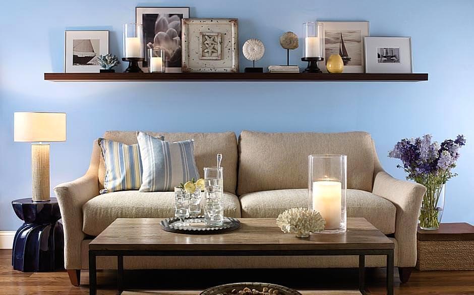 Warna Cat Ruang Tamu Minimalis Terbaru Warna Biru