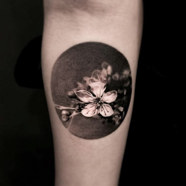 Black And Grey Flower Tattoo Best Tattoo Ideas Gallery