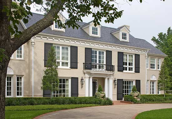 Pretty Color for an Architectural Classic  Traditional Home