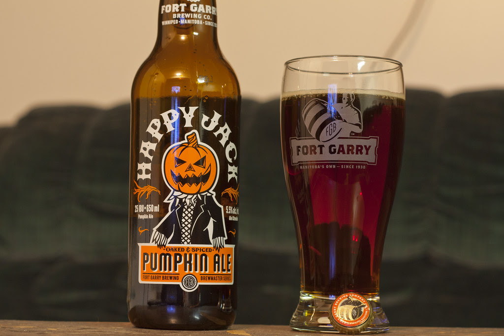 Review: Fort Garry Happy Jack Pumpkin Ale (2013) by Cody La Bière