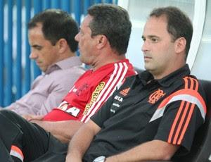 Rodrigo Caetano, Vanderlei Luxemburgo e Gabriel Skiner, Flamengo (Foto: Gilvan de Souza / Flamengo)