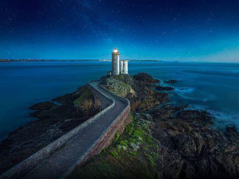 lighthouse   petit minou monument  plouzane france