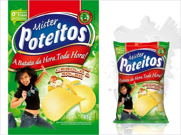 Mr Poteitos Potato Chips Packaging 3 30+ Crispy Potato Chips Packaging Design Ideas