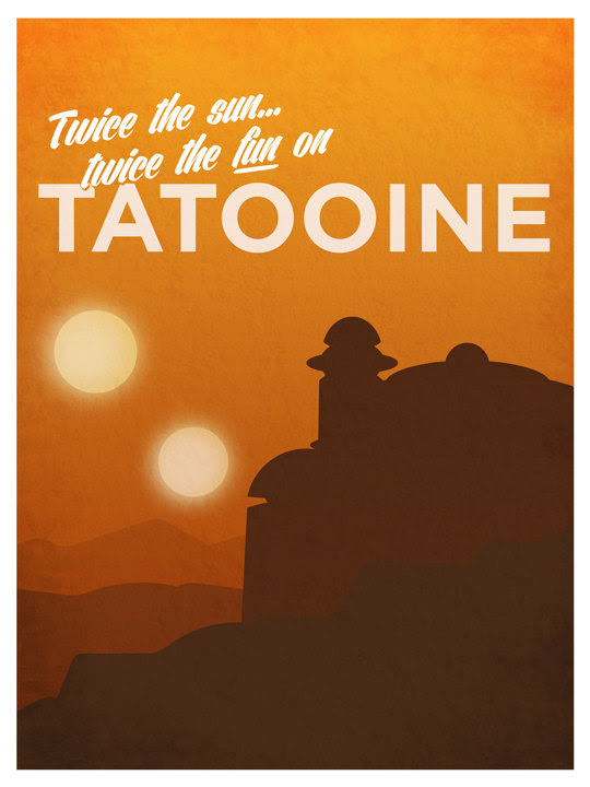 Star Wars Travel Posters by Troy Jensen