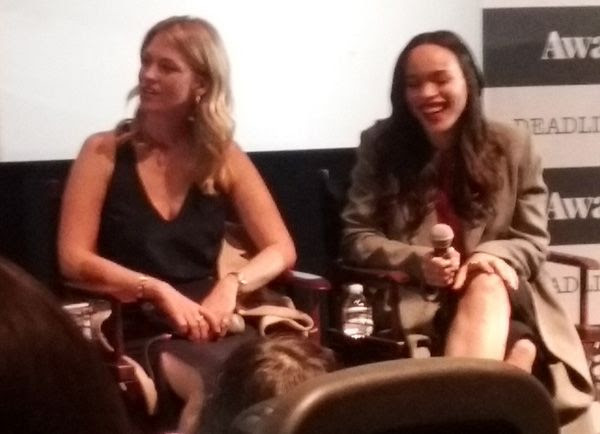 January Jones and Cleopatra Coleman at the Q&A panel for THE LAST MAN ON EARTH...on June 9, 2016.
