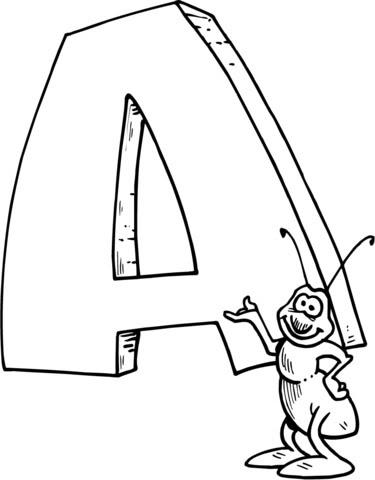 Dibujo De Letra A De Ant Para Colorear Dibujos Para Colorear