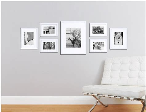 picture frame set  wall  piece wood kit hanging photo