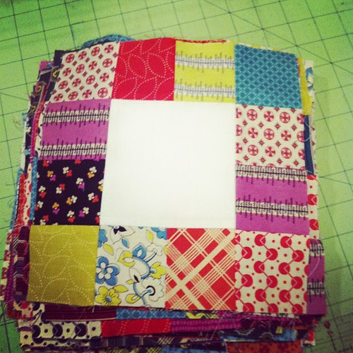Stack of yummy patchwork Chicopee! #almostaquilt