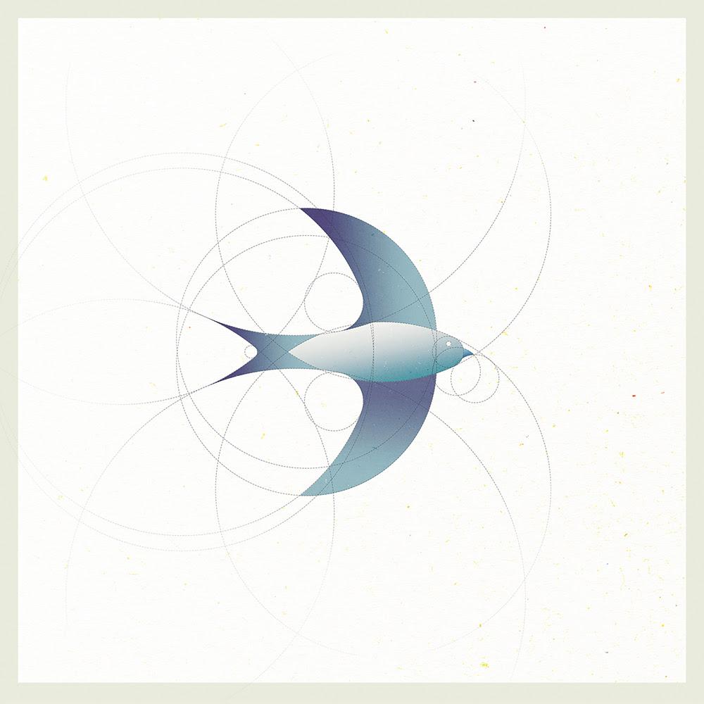 circle swallow bird design