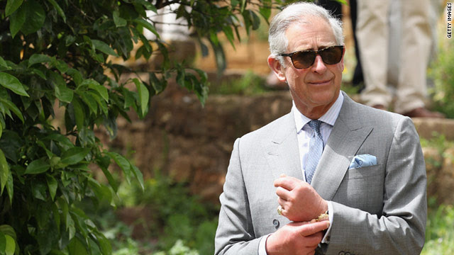 Charles, Prince of Wales, visits the historic site of Chellah on April 5 during a three-day visit to Morocco .