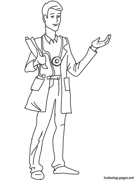 coloring page doctor coloring pages
