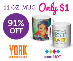 For Dad: $1 Custom 11 OZ Photo Mug – Save $9.99!