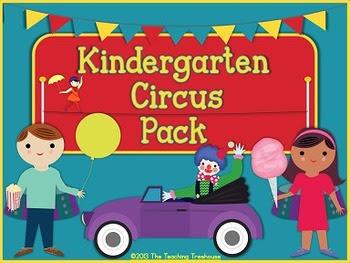 Kindergarten Circus Pack ~ Printables + Game Cards Pre-K/K