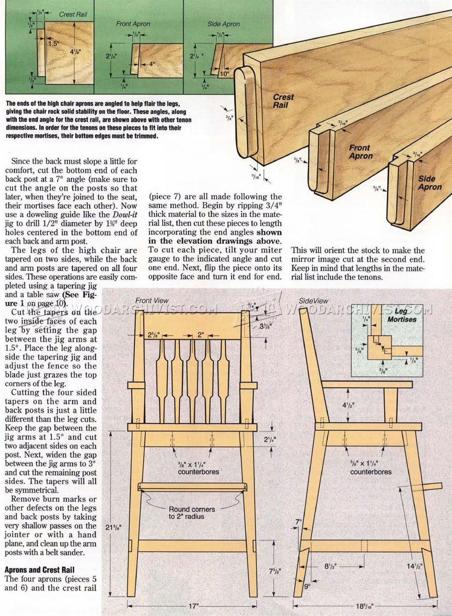 Woodworking Plans For High Chair Hi Small Wood Projects