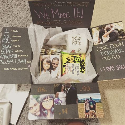 One year anniversary care package   Care Packages