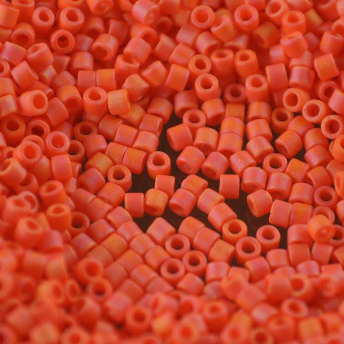 dbm0872 Delicas - 10/0 Japanese Cylinders - Matte Opaque Orange AB