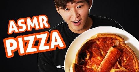 ASMR ĂN PIZZA CUA HOÀNG ĐẾ NHÂN PHÔ MAI | WOOSSI EATING SOUNDS