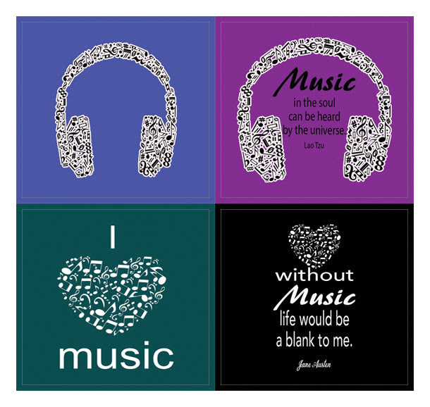 Creanoso Music Theme Inspirational Quotes Stickers 10 Sheets A Ins