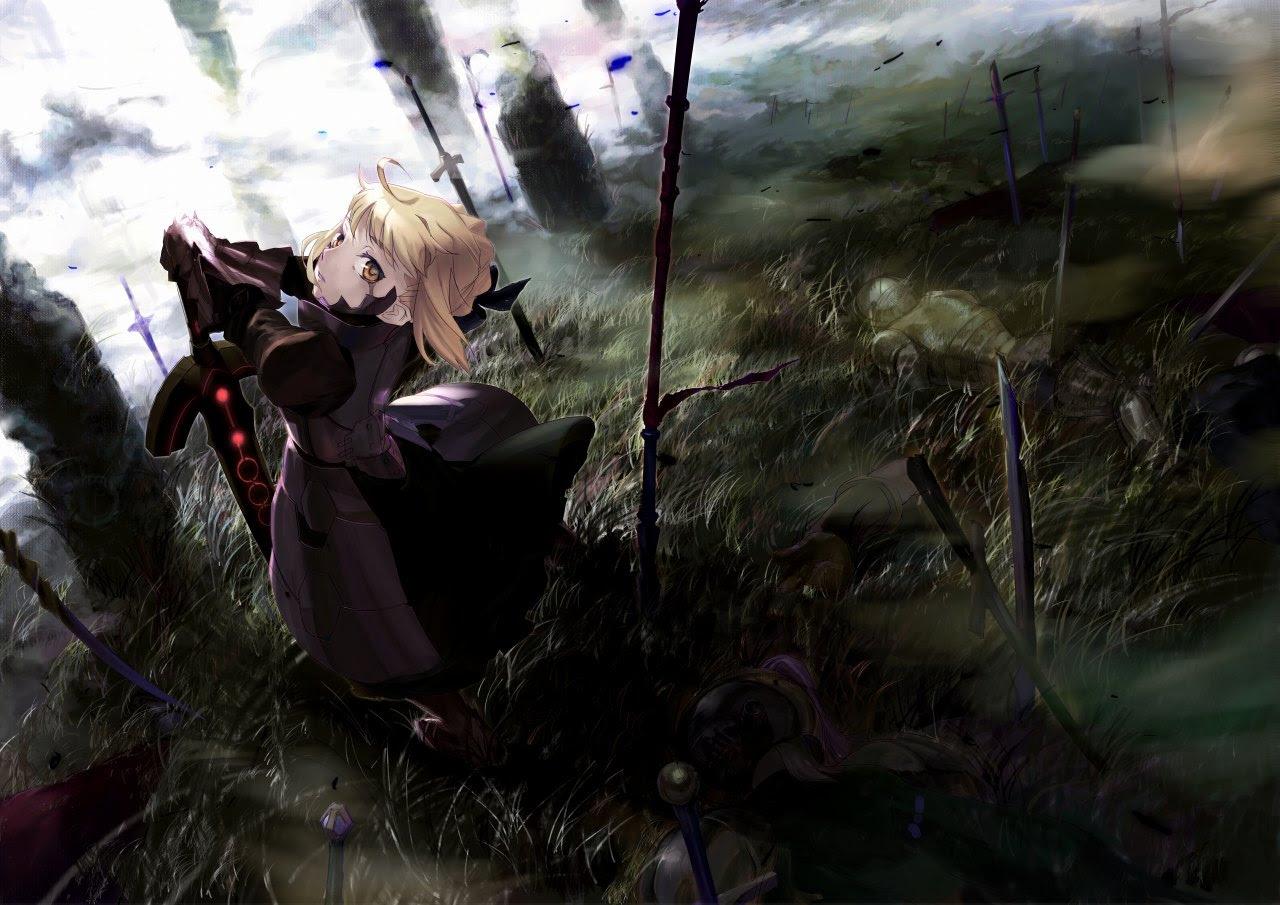 黒セイバー Fate Stay Night Iphone スマホ 壁紙 Fate Staynight