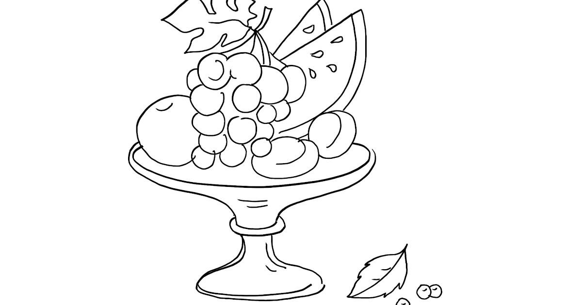 ausmalbild obst kostenlos  cartoonbild