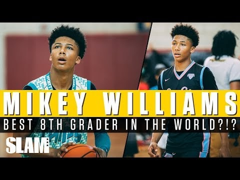 how tall is mikey williams 8th grader