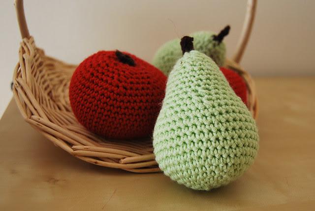 pera y manzana ganchillo