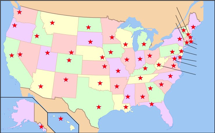 map of the united states and capitals quiz us map game with states and capitals