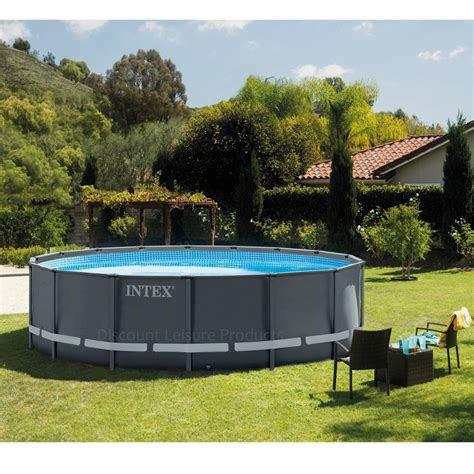 intex ultra xtr frame  ground swimming pool ft