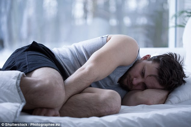 Men can have post-coital dysphoria as well as women. Many go into a deep depression and feel achy and irritable for hours after sex (file photo)