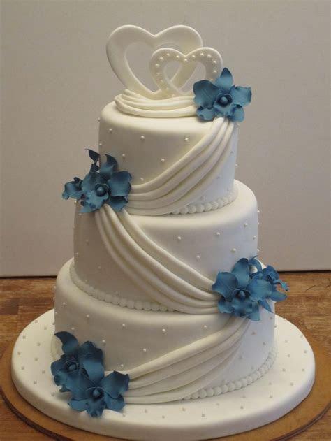 Blue Orchid Wedding Cake   Wedding Cake in 2019   Wedding