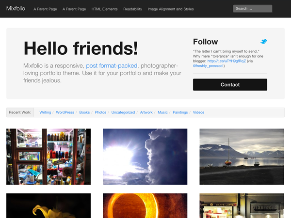 Mixfolio Free WordPress Theme