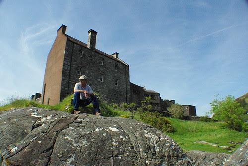 Joe at Eilean Donan castle, Scotland