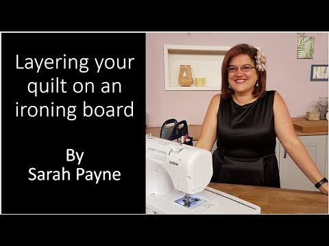 How to spray baste and layer a quilt when you don't have much room!