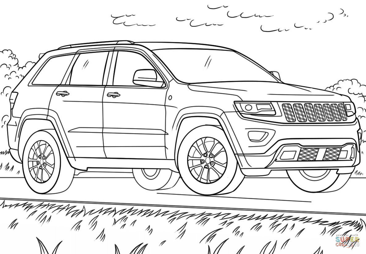 98 Top Jeep Car Coloring Pages Pictures