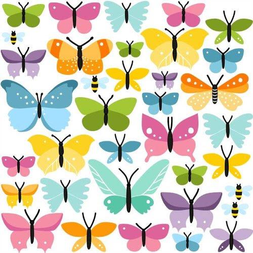 Wandtattoos Wandbilder Schmetterling Bunte Schmetterlinge Wandsticke Wandtattoo Sticker 52 Tlg Mobel Wohnen Dslr Zone Com