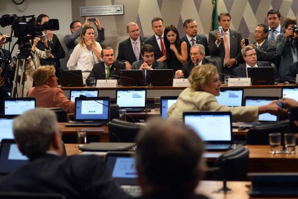 A Comissão Especial do Impeachment no Senado aprovou o parecer favorável à admissibilidade do processo de afastamento da presidenta DilmaAntonio Cruz/Agência Brasil