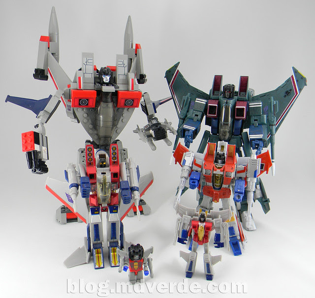 Transformers Starscream - Kre-O - modo robot vs otros Starscreams G1