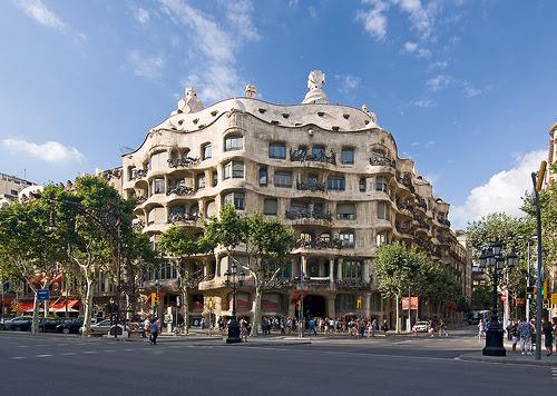 "Casa Milá, ""La Pedrera"", Barcelona, Spain"