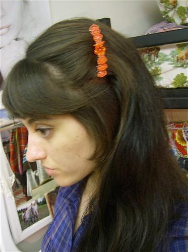 red bakelite comb