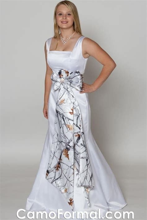 White Camo Wedding Dress