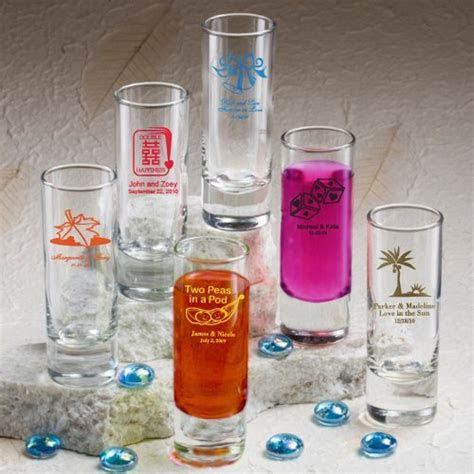 Personalized Shooter Wedding Favor Shot Glasses (50 Designs)