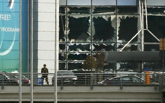 Aeroporto de Zaventem em Bruzelas ataque Bélgica (Foto: Reuters)